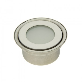 Balise encastrable 12V IP67 Ø60x29,5mm 0,5W, Blanc Chaud