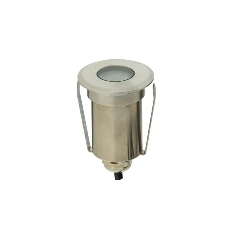Balise LED spot de sol 1,5W 12V IP67 Blanc Chaud