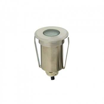 Balise LED spot de sol 1,5W 12V IP67 Blanc Chaud