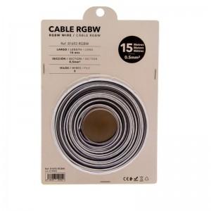 Cable RGBW de 5 hilos para instalaciones 12-24V - Rollo de 15 metros