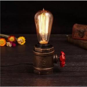 Lampe table tuyau rétro