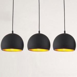 Suspension noir et doré design
