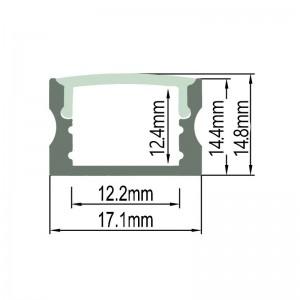 Profilé aluminium de surface 17x15 mm