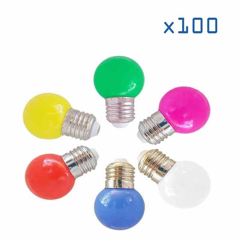 Pack 100 ampoules 1W E27