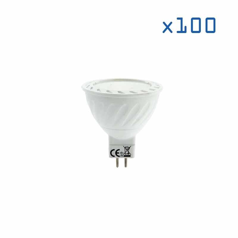 Pack 100 ampoules GU5.3 7W 12V