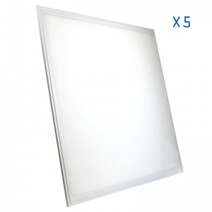 Pack 5 dalles LED 60x60 42W ultra plat