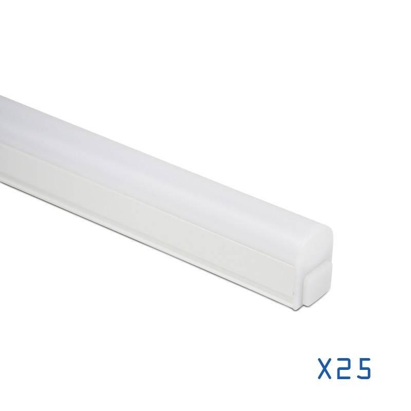 Pack 25 réglettes T5 LED 30cm 4W