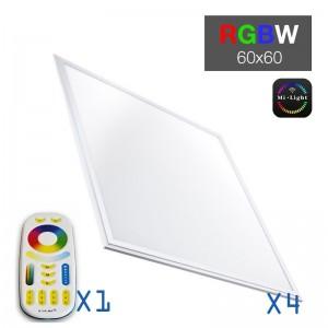 Pack 4 dalles LED RGB-W + Télécommande RF
