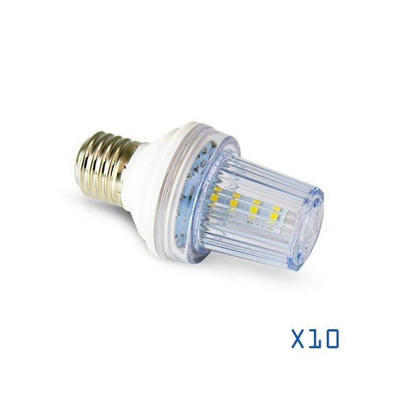 Pack 10 ampoules stroboscopique LED E27 IP44