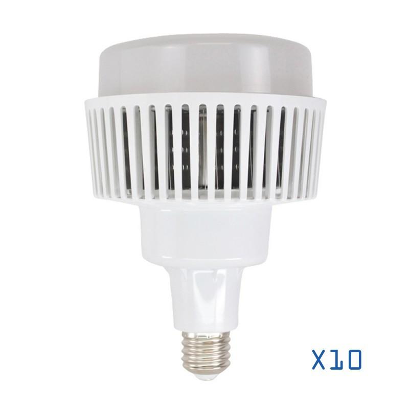 Pack 10 ampoules LED 100w industrielle E40