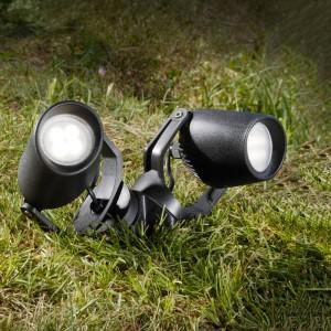 """Double spot LED sur piquet Fumagalli """"Minitommy 2L"""" GU10 7W"""