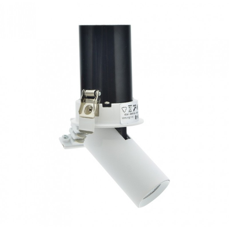 Spot LED encastrable extractible 7W