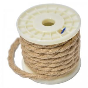 Câble électrique tressé corde bobine de 5m