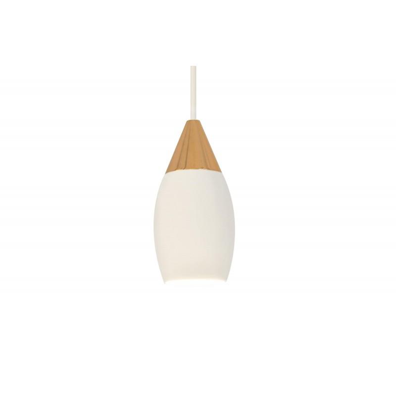 Lampe de suspension LED blanche et or rose
