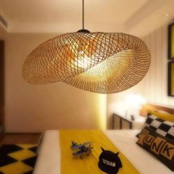 lampe suspension en osier