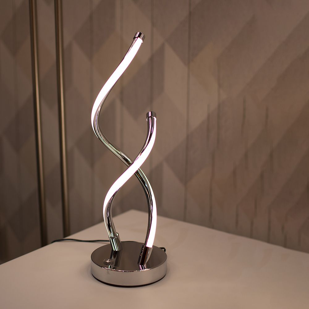 Lampe de chevet design spirale LED