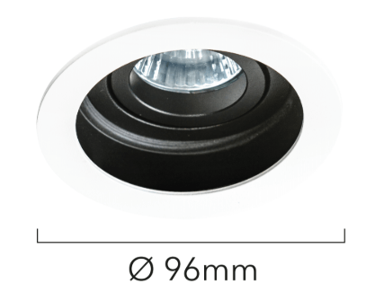 dimensions support gu10 encastrable rond