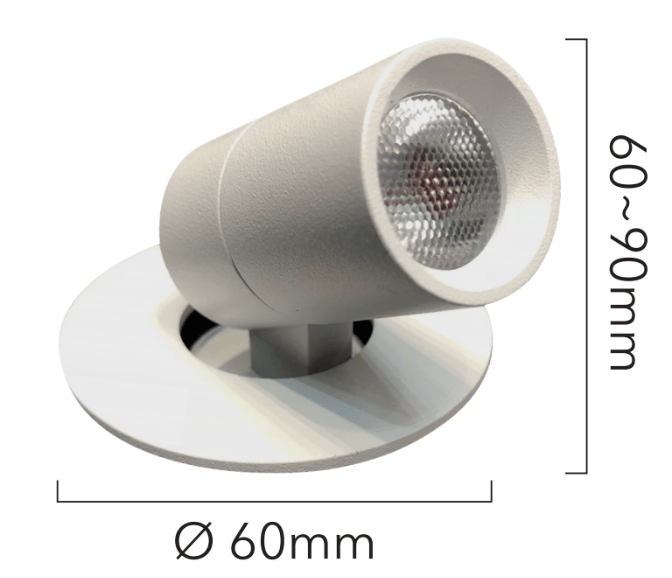dimensions downlight encastrable orientable