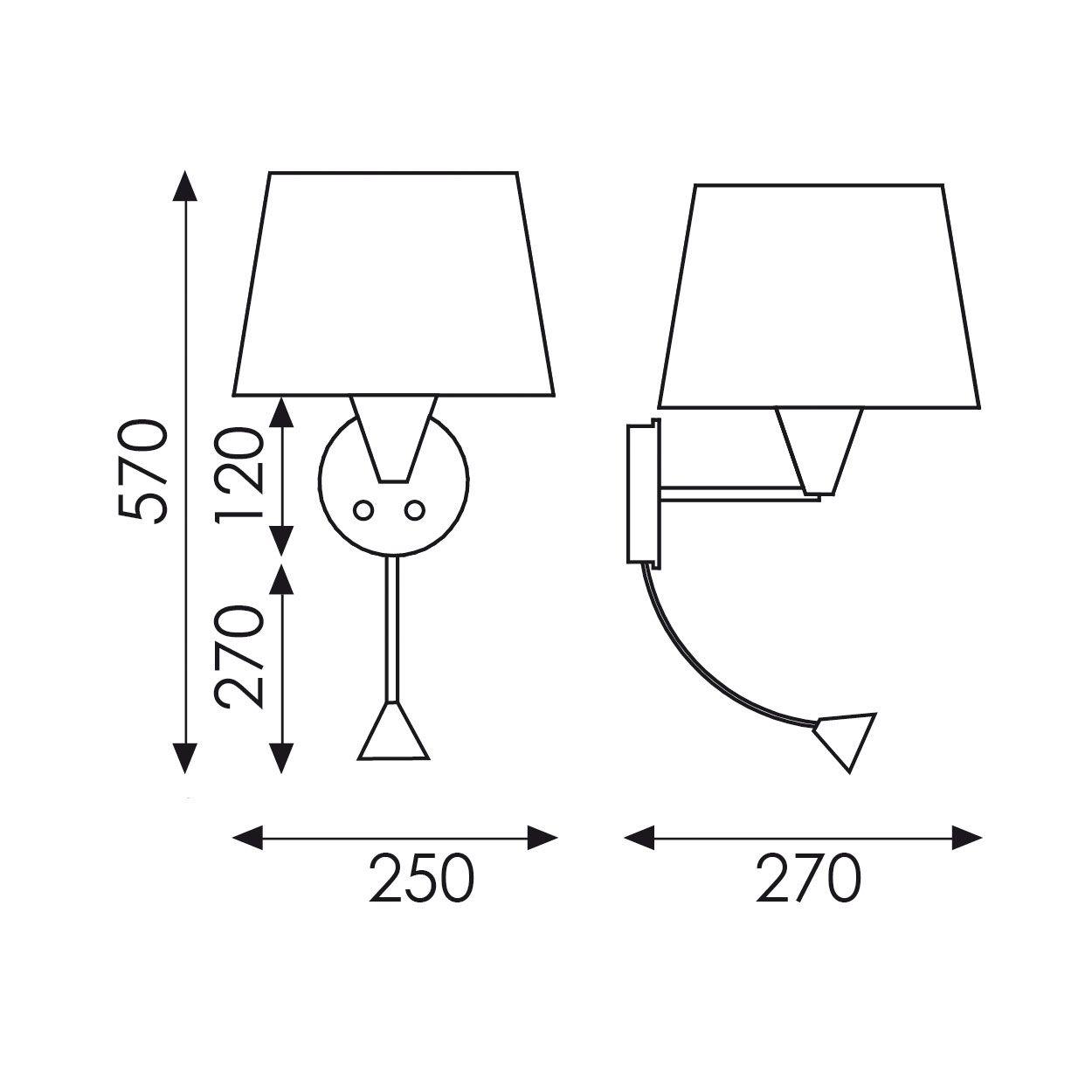 lampe avec spot led flexible dimensions