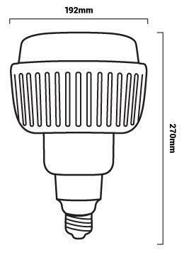 taille ampoule industrielle 100w