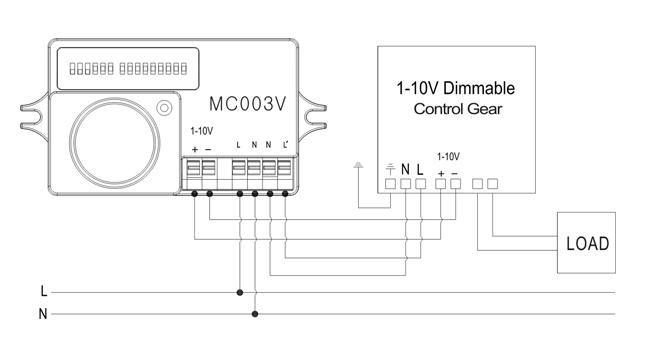 Schéma connexion détecteur de mouvement