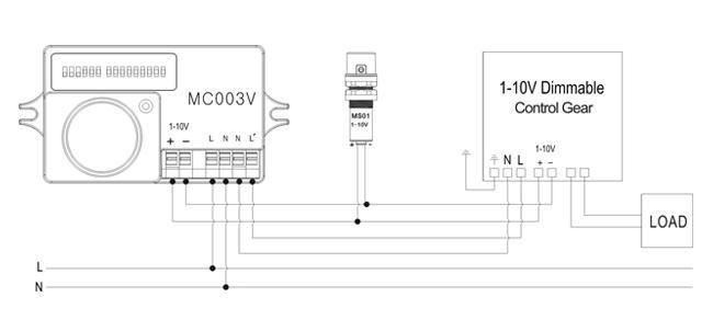 Schéma connexion détecteur de mouvement + crépusculaire