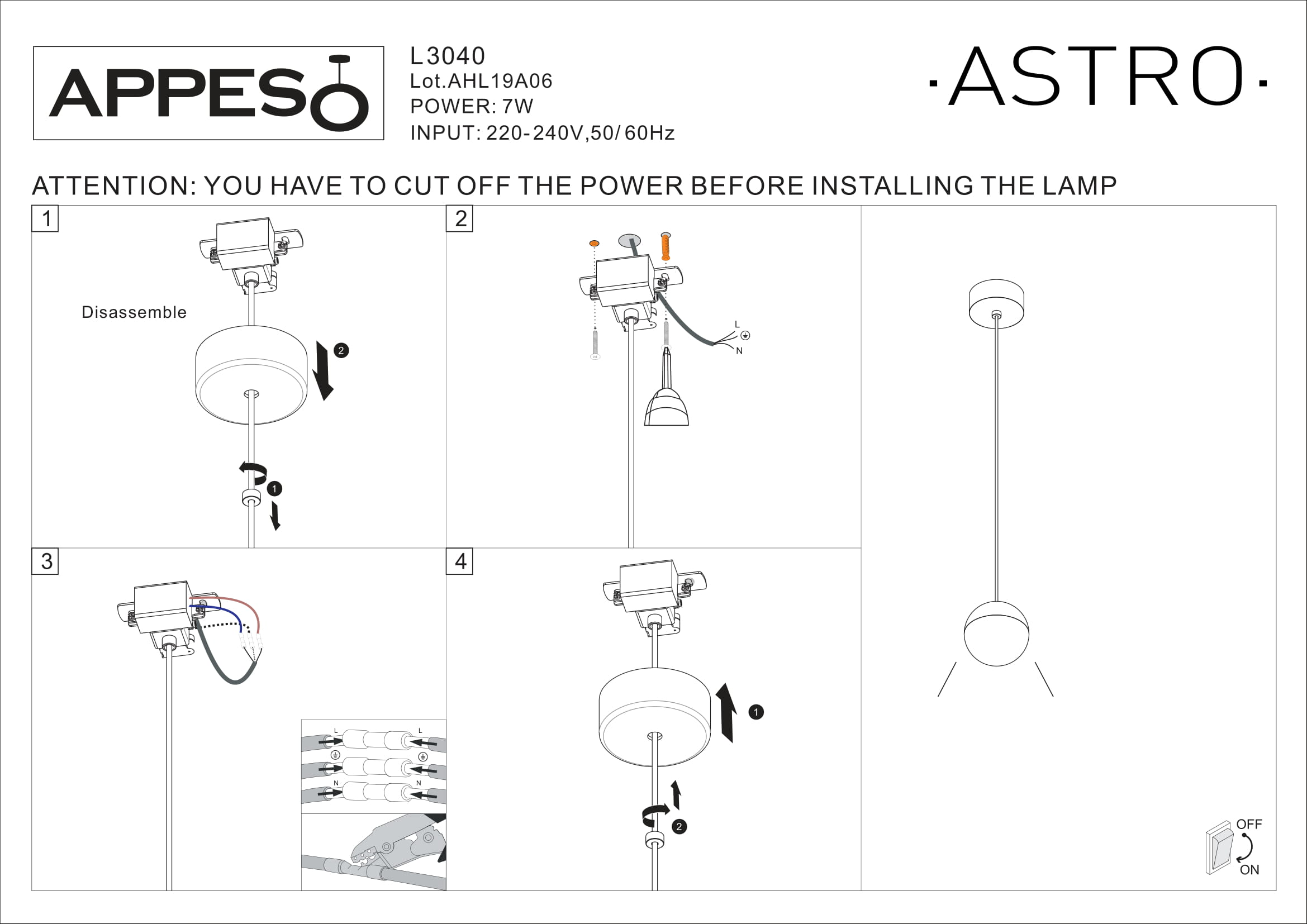 Installation suspension Astro