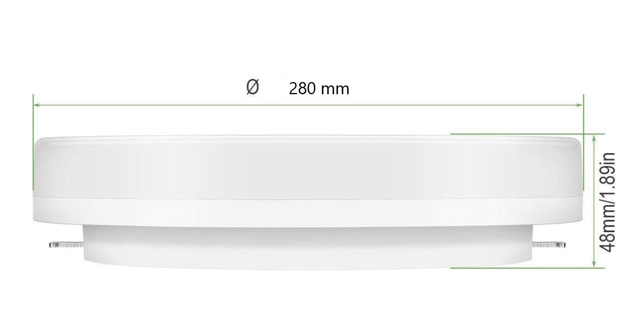 dimensions plafonnier LED 24w