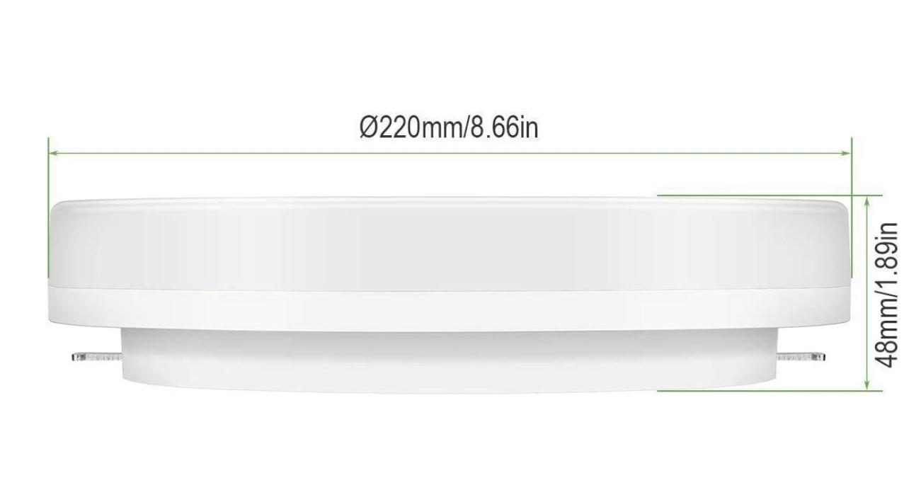 dimensions plafonnier IP54 led