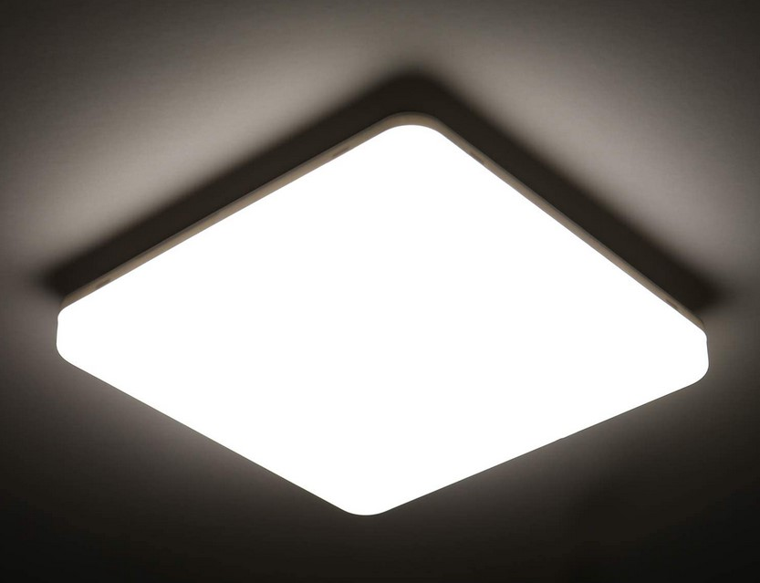 plafonnier LED carré 24w
