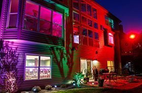 projecteur led RGB facade