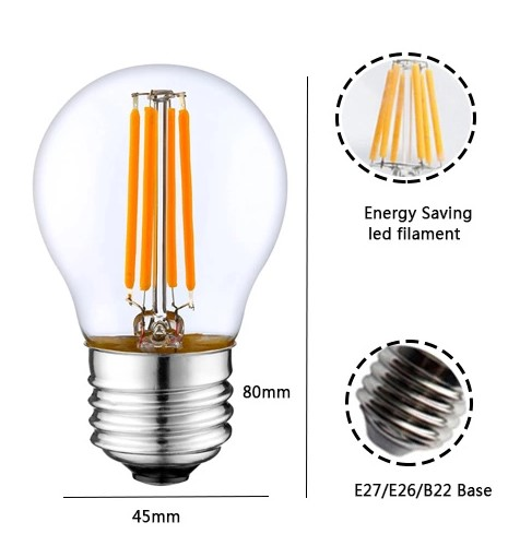 ampoule led filament retro clear