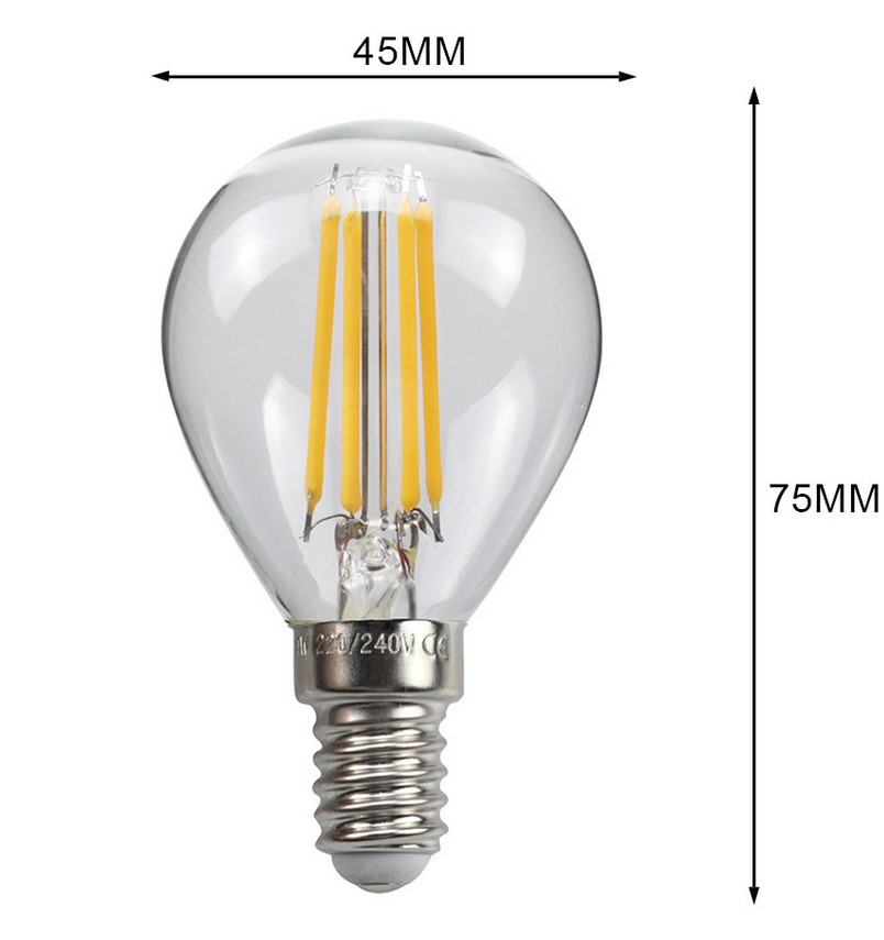 ampoule LED filament dimensions