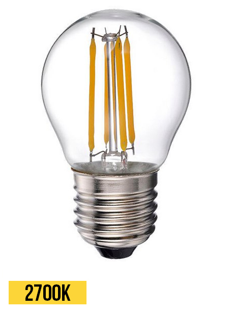 ampoule led retro clear 6w 2700k