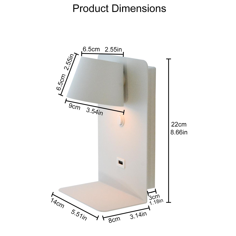 lampe chevet BASKOP dimensions