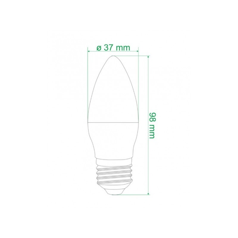 ampoule led bougie e27 dimensions