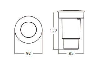 dimensions spot encastrable fumagalli