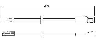 Câble extension 200cm mâle et femelle