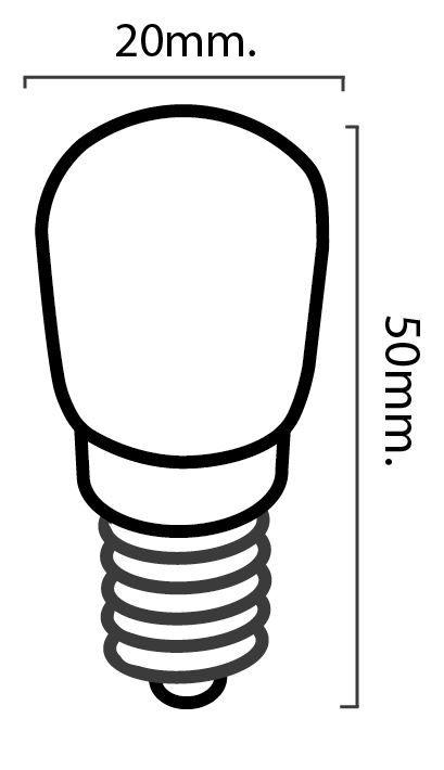 dimensions ampoule E14 frigo