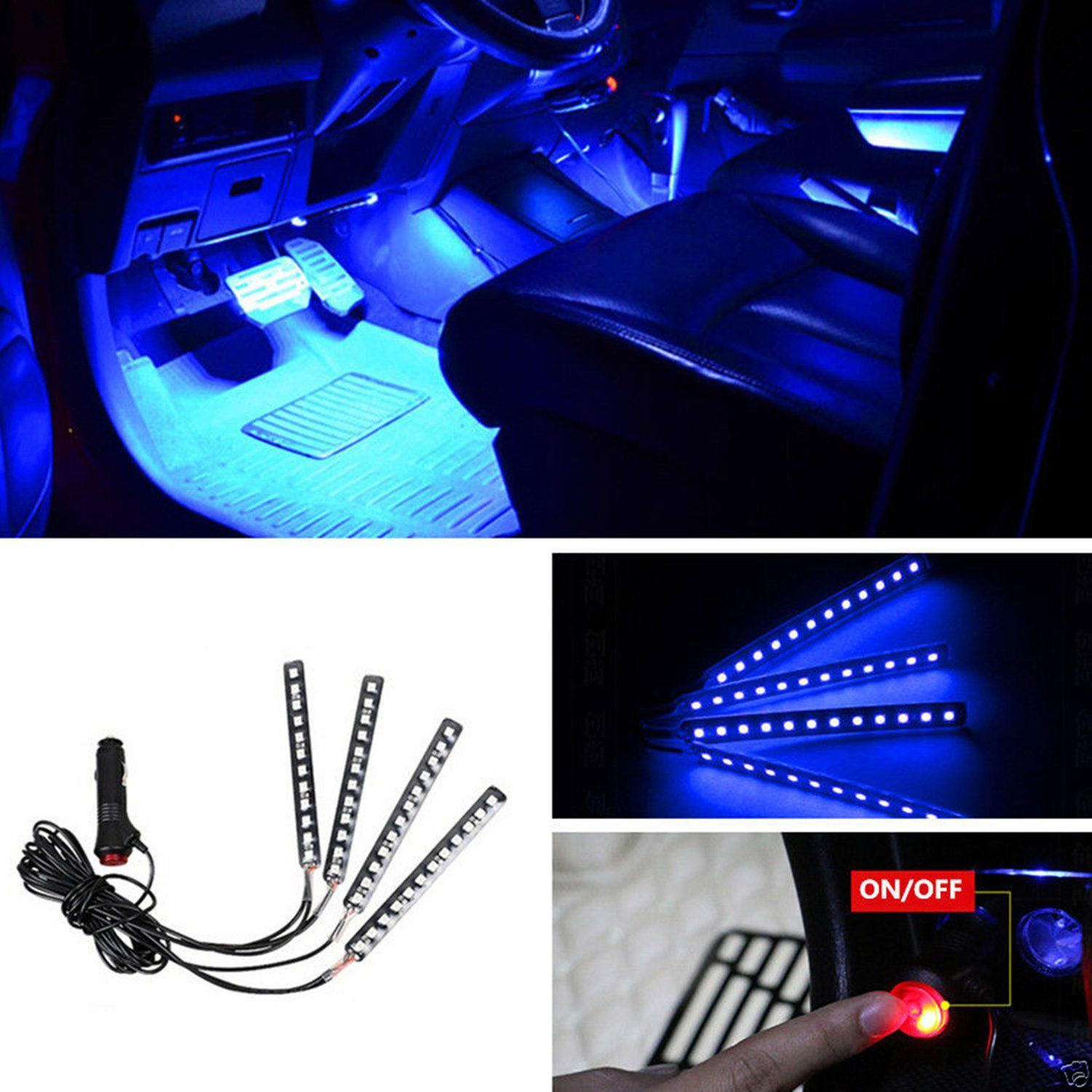 Kit LED pour automobile RGB 12V