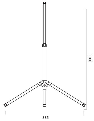 trepied-projecteur-exterieur