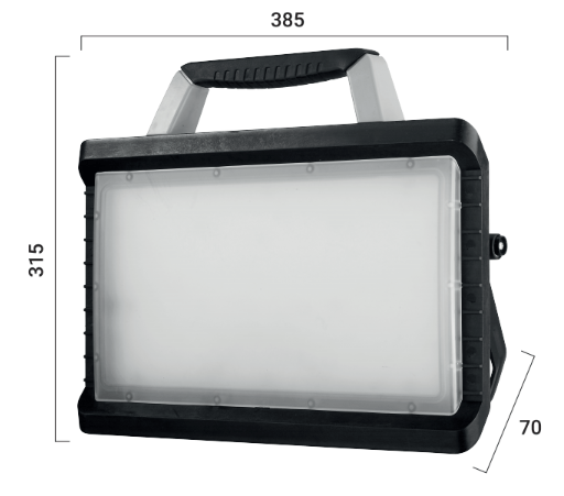 dimensions projecteur LED portable rechargeable