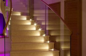 kit spots led escalier