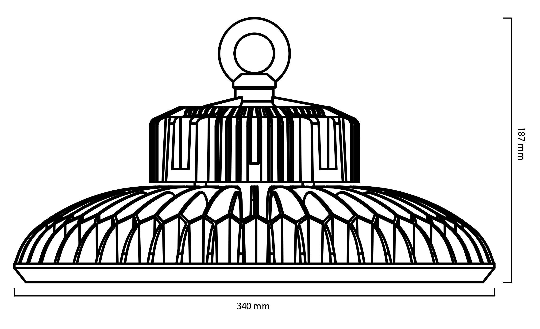 Cloche Industrielle Led Slim Ufo 150w Haut Rendement 130lmw