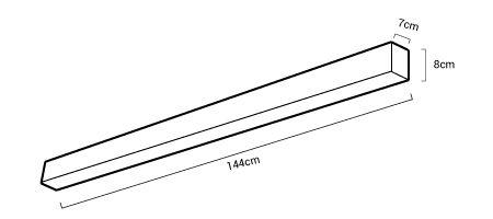Medidas luminaria lineal