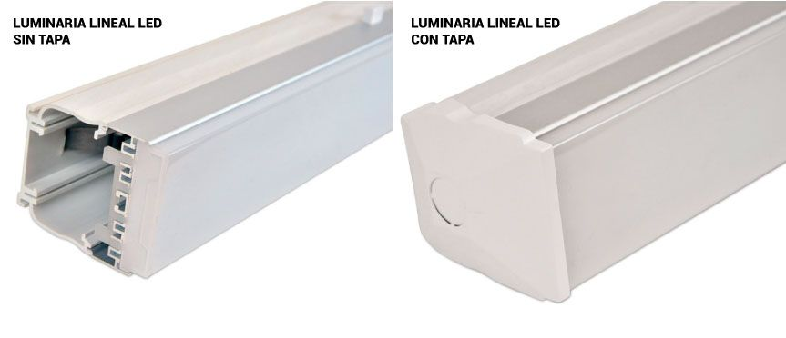 Tapa luminaria lineal LED