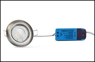 Embellecedor redondo de aluminio standard para una iluminación definida