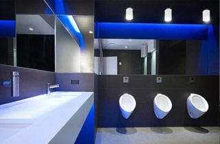 éclairage toilettes support spot