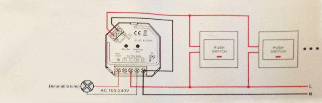 esquema de instalación mini controlador triac 230v