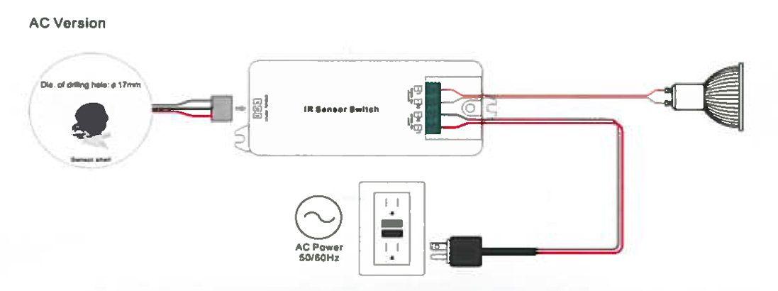 montage détecteur de présence infrarouge 12v